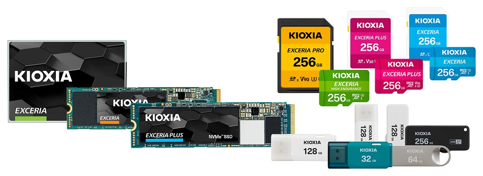 """KIOXIA"" branded flash memory / storage consumer products"