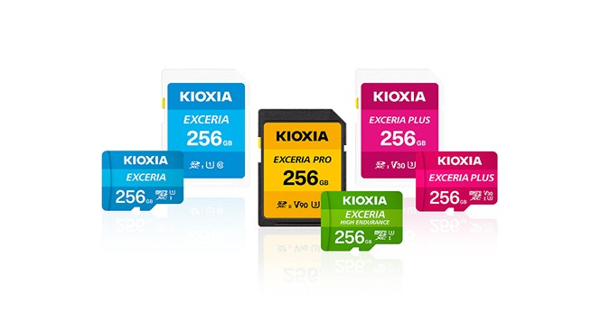 """KIOXIA"" branded microSD/SD memory card products"